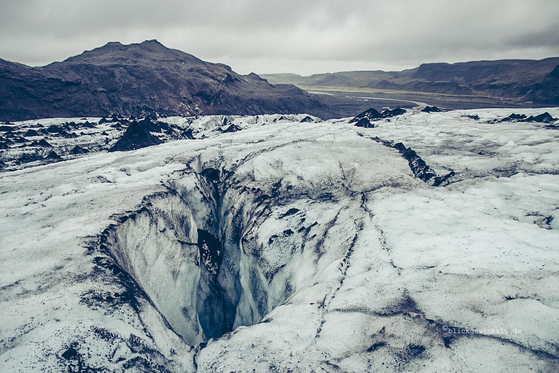 Gletscheransicht und Blick ins Tal