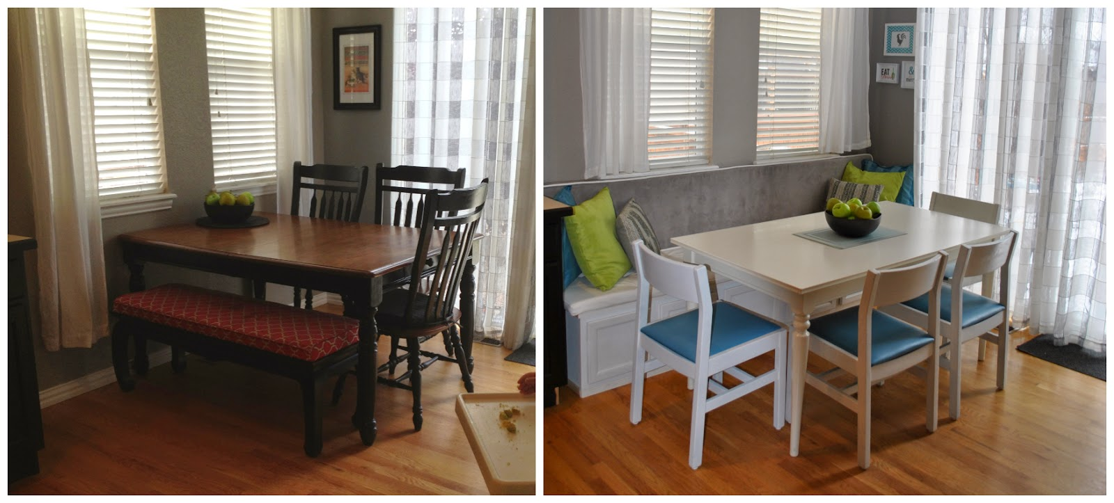 Our Little Bubble: DIY Banquette aka The Breakfast Nook