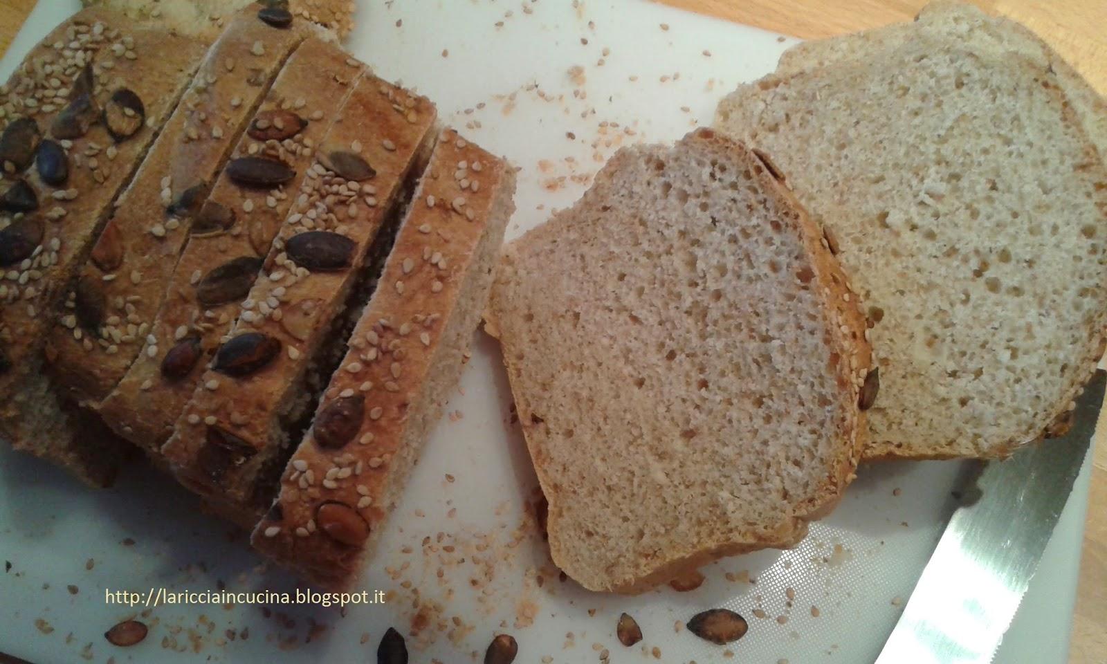 La riccia in cucina pan bauletto con mix di farine e semi - Diversi tipi di permanente riccia ...