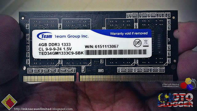 RAM for the laptop