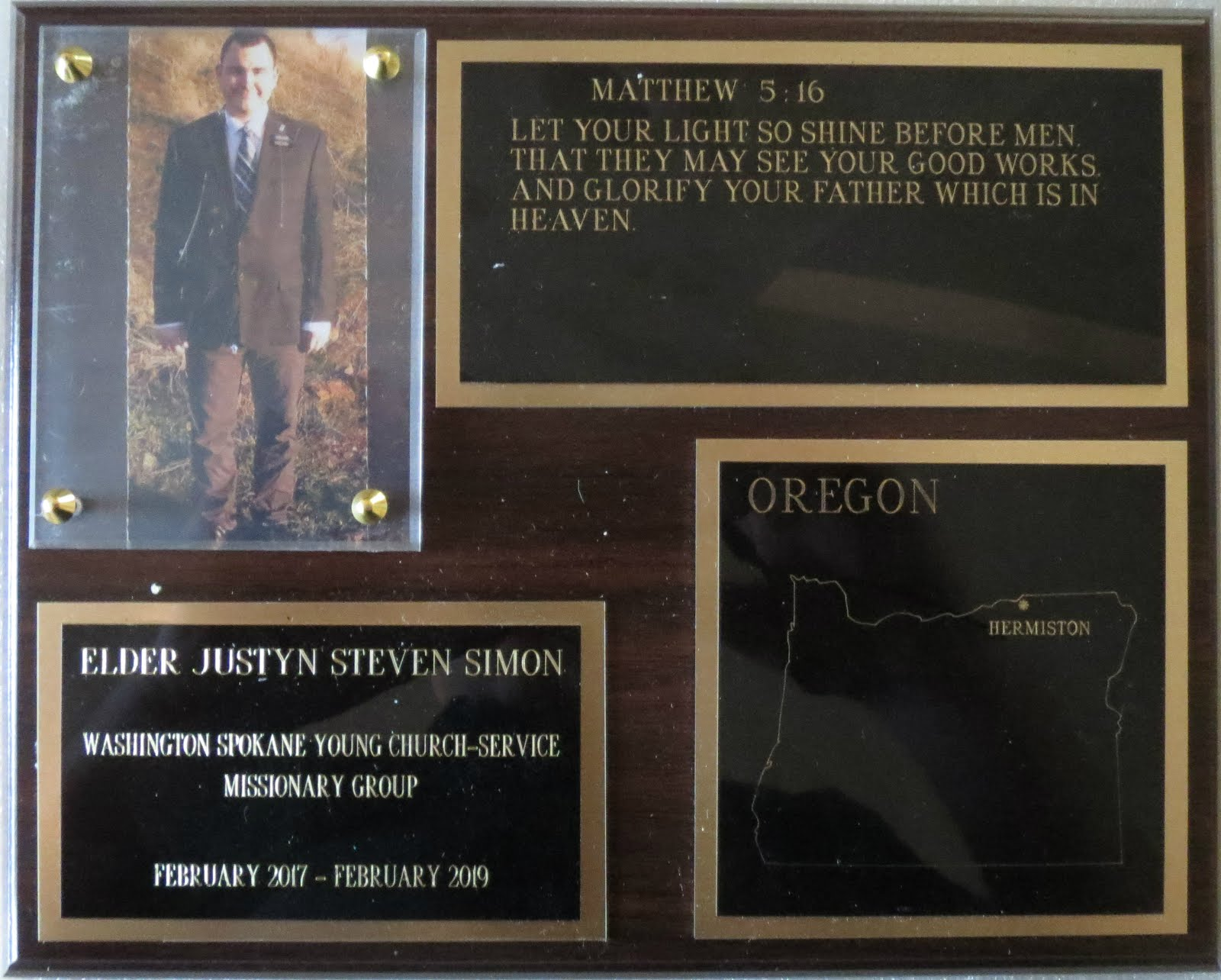 mission plaque