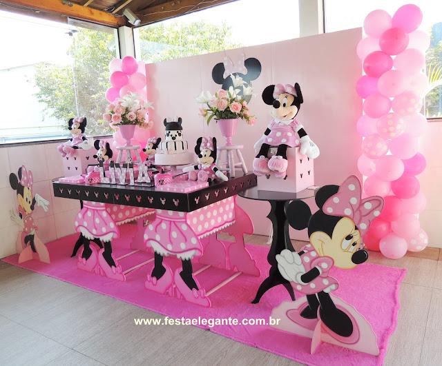 decoracao festa minnie rosa: DECORAÇÃO PARA FESTAS INFANTIS: Decoração Minnie Rosa para Lívia