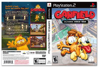 Garfield The Lasagna World Tour PS2 DVD Capa