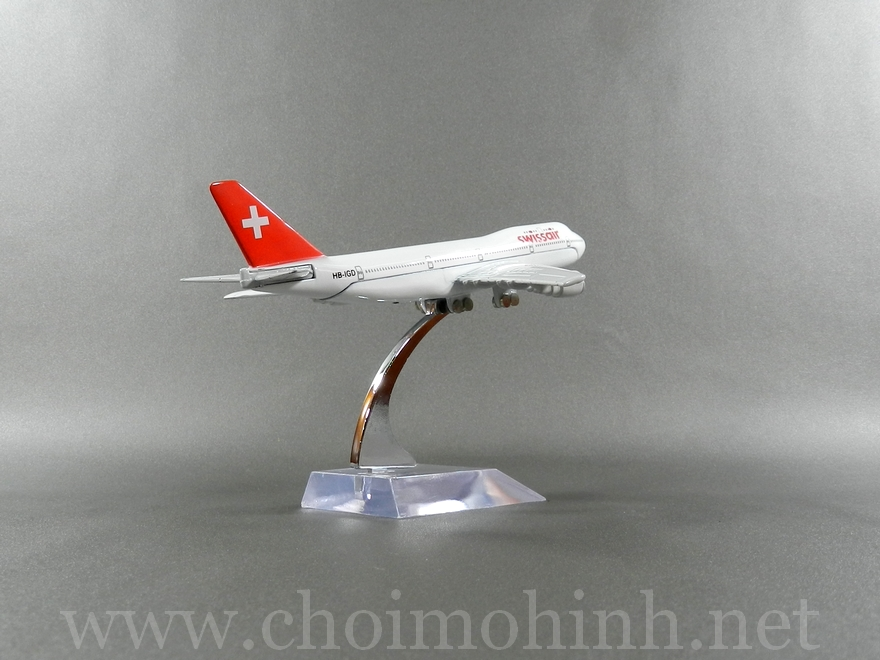 Swiss Air plane 1:400 back