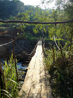 foot bridge salvaged from old car bridge
