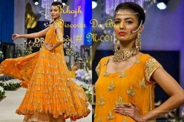 Mehndi Function Dresses : Pakistani mehndi dresses designs for