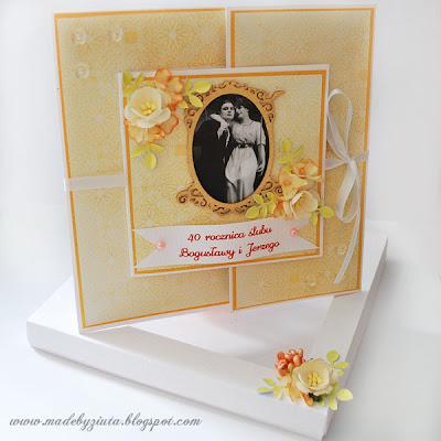 kartki okolicznościowe kartka na wesele, kartka na rocznicę ślubu, kartka ślubna ręcznie robiona, brama, składaczek, barbara wójcik