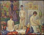 Georges Seurat (29) - Las modelos (1888)