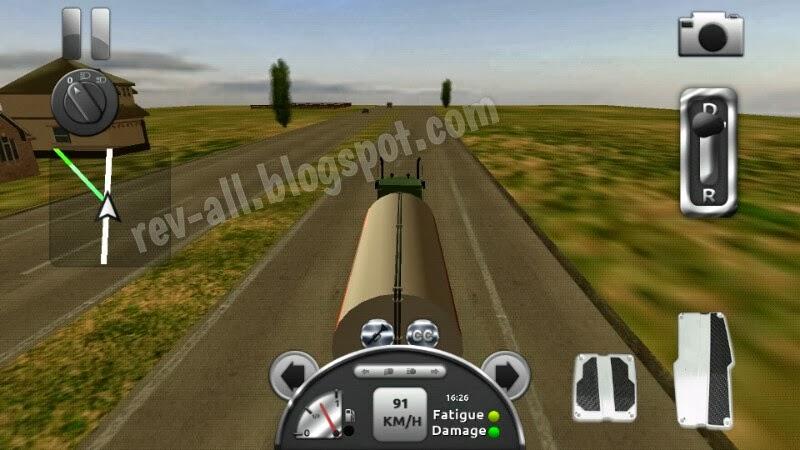 Mode kamera belakang siang hari - Truck Simulator 3D, permainan simulasi mengendarai truk untuk android (rev-all.blogspot.com)