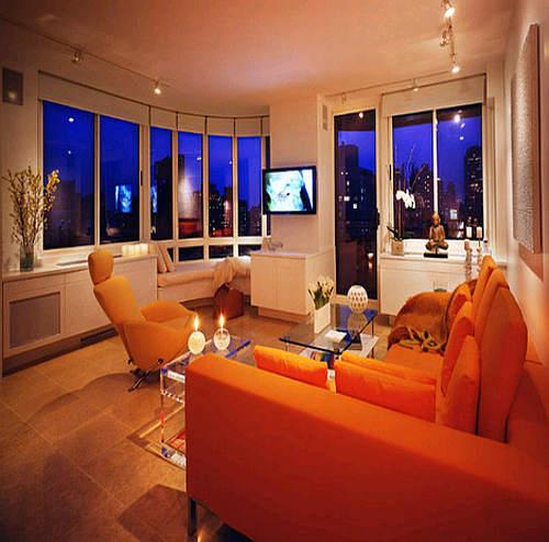 Living room design orange living room design ideas for Orange walls living room designs
