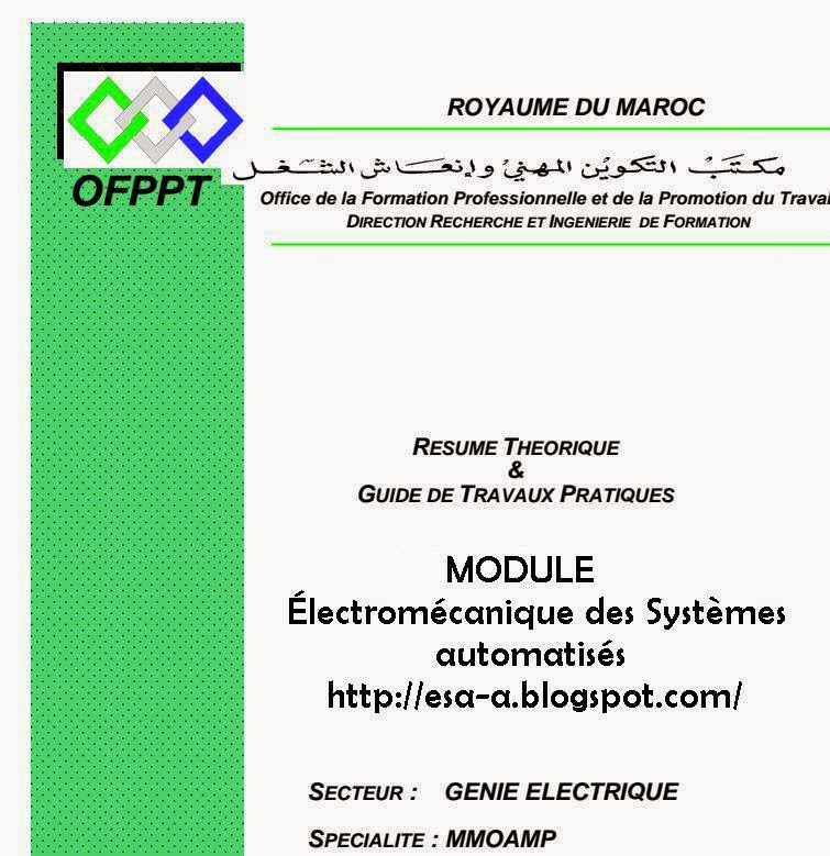 u00c9lectrom u00e9canique des syst u00e8mes automatis u00e9s