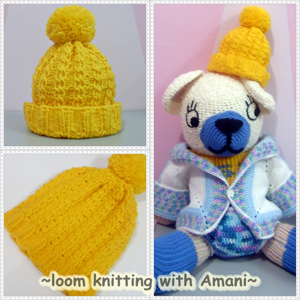 Loom Knitting Free Patterns : Crochet is fun free pattern cable hat loom knitting