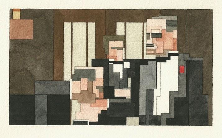 Adam Lister, acuarelas 8 bits, el padrino