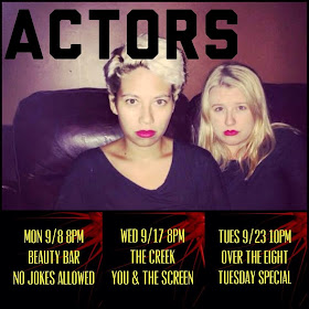 We are ACTORS. Check out our website listed above & come on a journey with us LIVE!