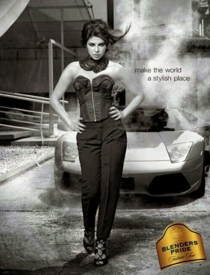 Priyanka Chopra's new print ad for Blenders Pride Fashion Tour 2013