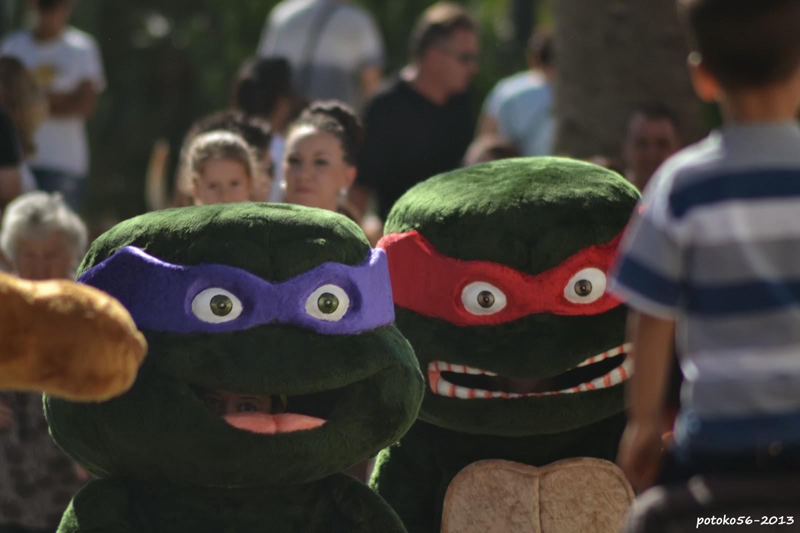 Cabezudos Tortugas Ninjas Fiestas  de Rota