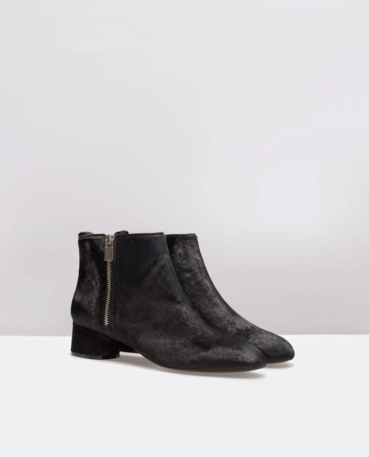 zara furry boots