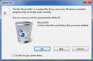 deleting the recycle bin? Where will it go then?
