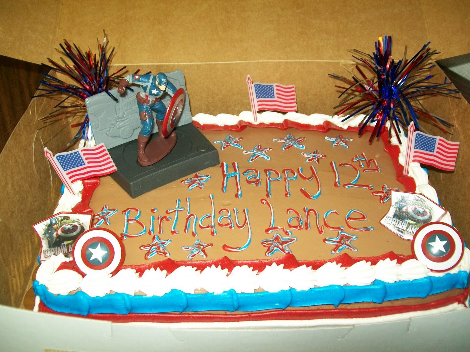 Pastel Lances Veterans Day 12th Birthday Cake