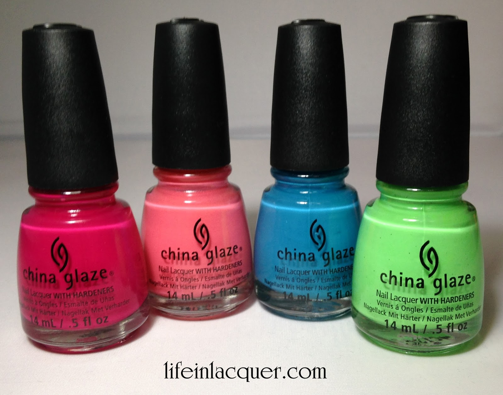 Heli-Yum, Surreal Appeal, Wait N' Sea, Shore Enuff bottle swatch