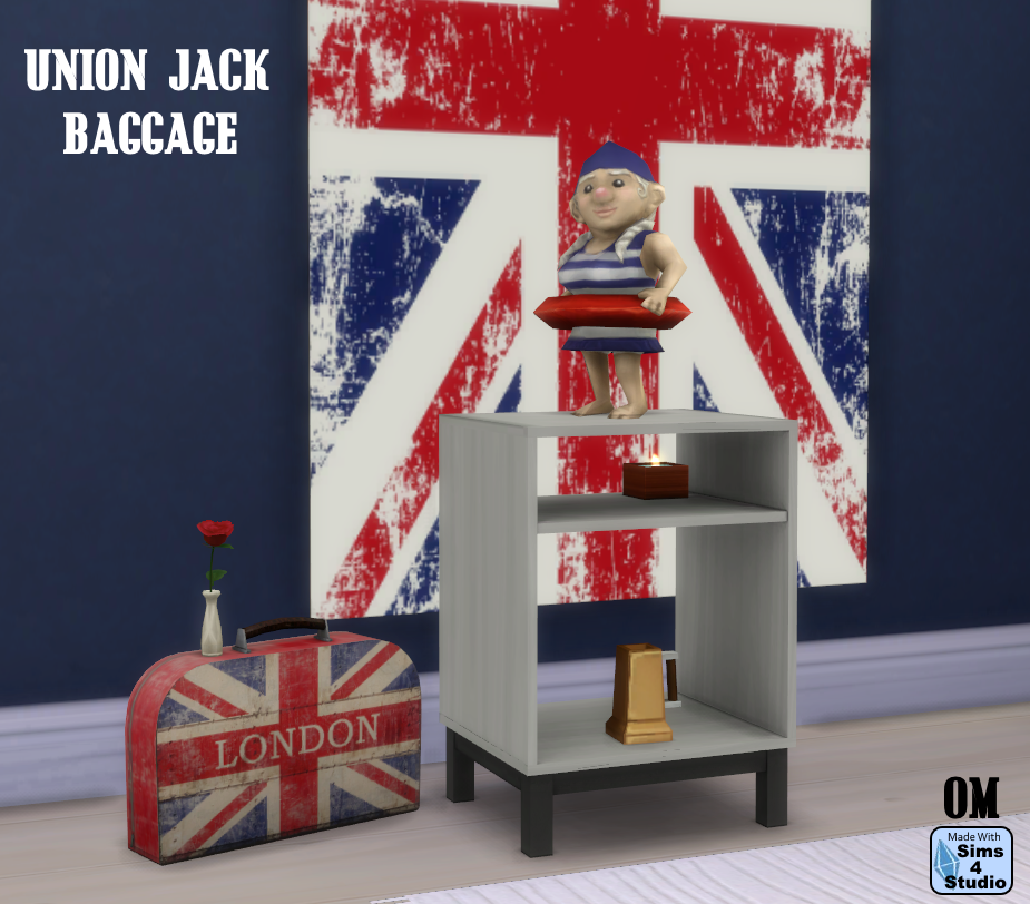 my sims 4 blog union jack baggage may paintings and rail sculpture with slots by om. Black Bedroom Furniture Sets. Home Design Ideas