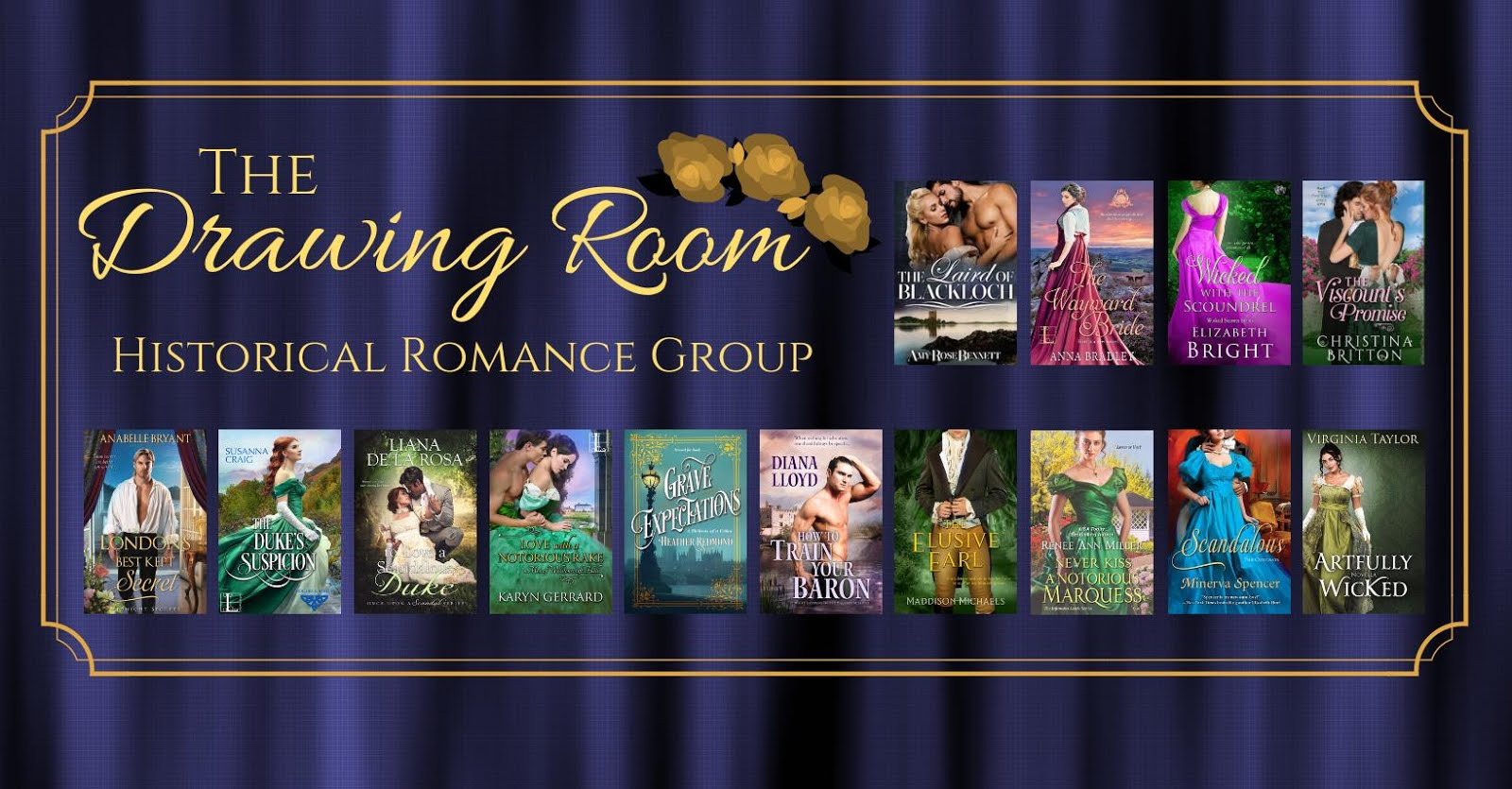 THE DRAWING ROOM FACEBOOK GROUP <br>(Historical Romance)