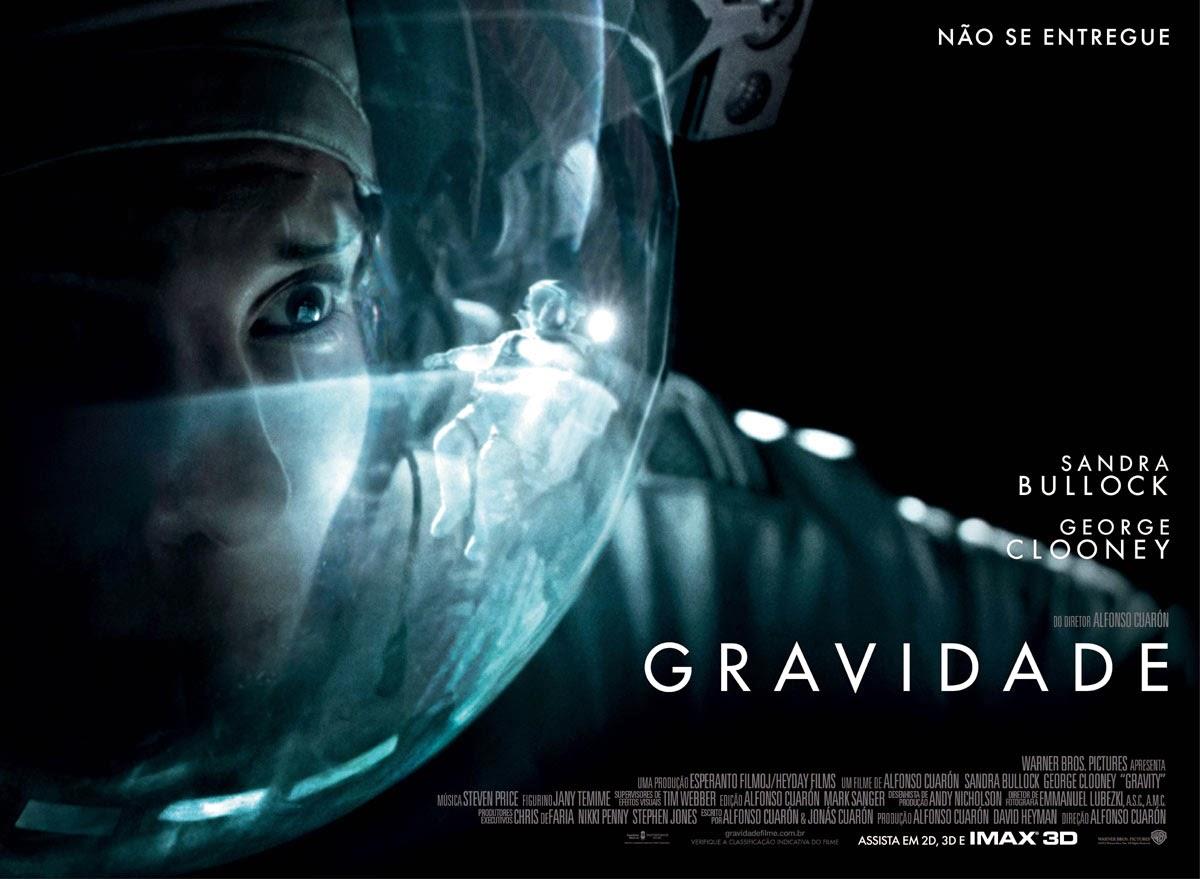 cartaz do filme Gravidade - ganhador de 7 prêmios no Oscar 2014