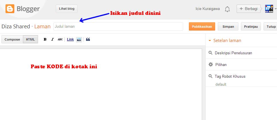 editor laman