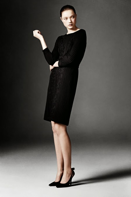 Modest black midi dress with sleeves by Tadashi Shoji Mode-sty