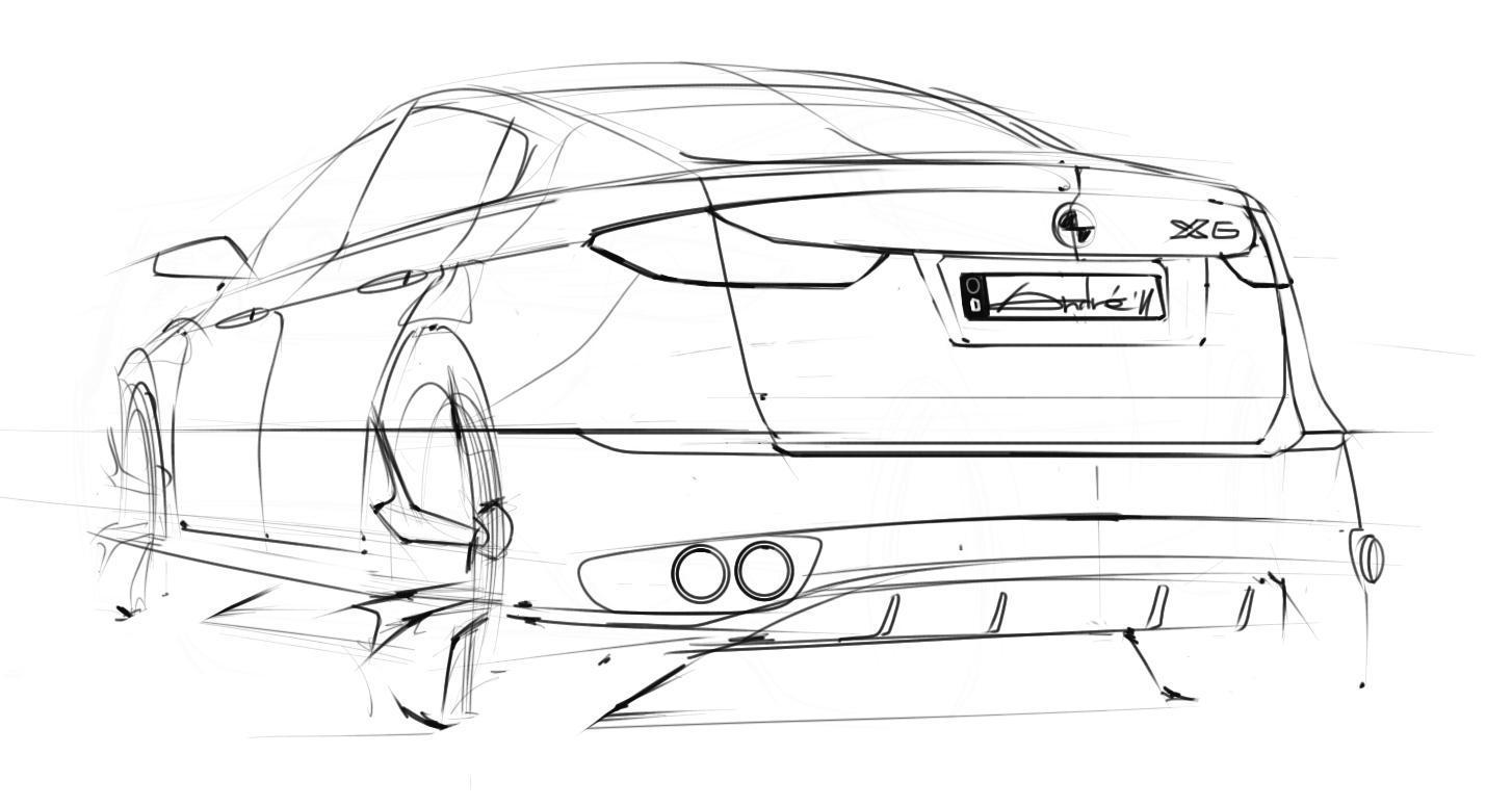 how to make car sketch