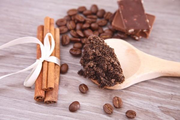 Hỗn hợp cà phê , sô cô la và đường nâu