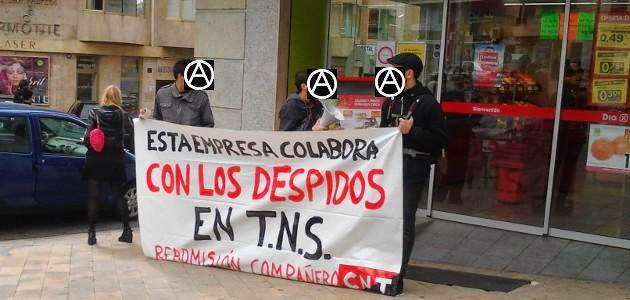Salamanca: concentración en DIA, contra los despidos en TNS,empresas relacionadas con TNS, como es el caso de DIA,Anarquistas,los anarquistas,el anarquismo,anarquismo,CNT AIT ,CNT ,AIT ,Anarcosindicalismo,Anarquía.la anarquía,trabajadores,trabajadoras,ABUSEJO AGALLAS AGUEDA DEL CAUDILLO AHIGAL DE LOS ACEITEROS AHIGAL DE VILLARINO ALARAZ ALBA DE TORMES ALBA DE YELTES ALBERGUERIA DE HERGUIJUELA ALCONADA ALDEA DEL OBISPO ALDEACIPRESTE ALDEADAVILA DE LA RIBERA ALDEAGALLEGA ALDEALBA DE HORTACES ALDEALENGUA ALDEANUEVA DE FIGUEROA ALDEANUEVA DE LA SIERRA ALDEARRODRIGO ALDEARRUBIA ALDEASECA DE ALBA ALDEASECA DE ARMUÑA ALDEASECA DE LA FRONTERA ALDEATEJADA ALDEAVIEJA DE TORMES ALDEAVILA DE REVILLA ALDEHUELA DE LA BOVEDA ALDEHUELA DE LOS GUZMANES ALDEHUELA DE YELTES ALMENARA DE TORMES ALMENDRA AMATOS AMATOS DE ALBA ANAYA DE ALBA AÑOVER DE TORMES ARABAYONA DE MOGICA ARAPILES ARCEDIANO ARDONSILLERO ARENAL DEL ANGEL ARMENTEROS ARRABAL DE SAN SEBASTIAN AVILILLA DE LA SIERRA BABILAFUENTE BAÑOBAREZ BARBADILLO BARBALOS BARCEINO BARCEO BARQUILLA BARRERAS BARRUECOPARDO BEJAR BELEÑA BERCIMUELLE BERGANCIANO BERMELLAR BERROCAL DE HUEBRA BERROCAL DE LA ESPINERA BERROCAL DE SALVATIERRA BERROCAL DEL CAMPO BOADA BOADILLA BOCACARA BOGAJO BOVEDA DEL RIO ALMAR BRINCONES BUENAMADRE BUENAVISTA CABEZA DE DIEGO GOMEZ CABEZA DE FRAMONTANOS CABEZA DEL CABALLO CABEZABELLOSA DE LA CALZADA CABEZUELA DE SALVATIERRA CABRERIZOS CABRILLAS CALVARRASA DE ABAJO CALVARRASA DE ARRIBA CALZADA DE DON DIEGO CALZADA DE VALDUNCIEL CALZADILLA DEL CAMPO CAMPILLO DE AZABA CAMPILLO DE SALVATIERRA CAMPO DE LEDESMA CAMPOCERRADO CANDELARIO CANILLAS DE ABAJO CANTAGALLO CANTALAPIEDRA CANTALPINO CANTARACILLO CARBAJOSA DE ARMUÑA CARBAJOSA DE LA SAGRADA CARNERO CARPIO DE AZABA CARPIO-BERNARDO CARRASCAL DE BARREGAS CARRASCAL DE PERICALVO CARRASCAL DE VELAMBELEZ CARRASCAL DEL OBISPO CARRASCALEJO DE HUEBRA CARRASCO CARREROS CASAFRANCA CASAS DE MONLEON CASASOLA DE LA ENCOMIENDA CASILLAS DE FLORES CASTAÑEDA CASTELLANOS DE MORISCOS CAS