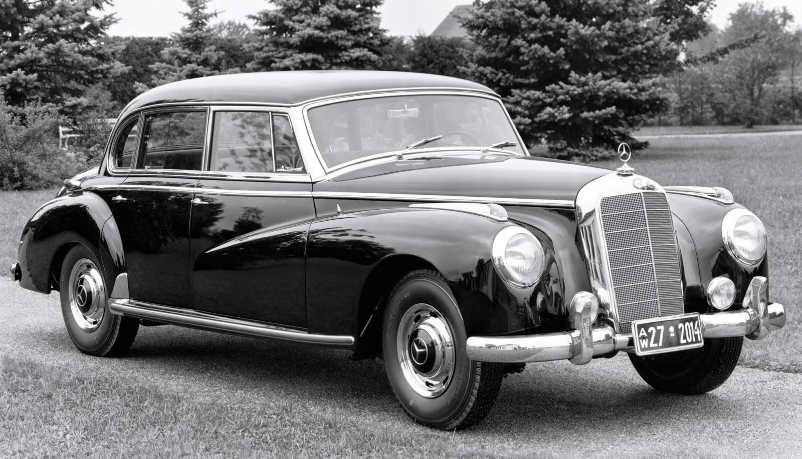 Car style critic mercedes benz 300 w186 post war large sedan for Mercedes benz big car
