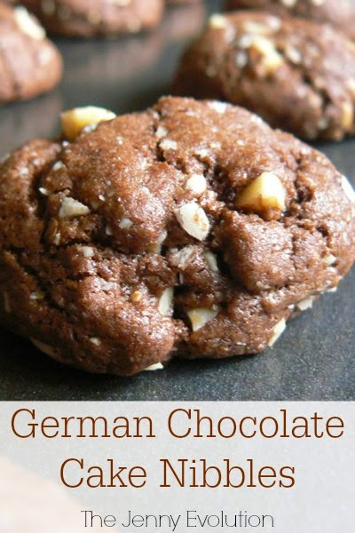 German Chocolate Cake Nibbles, shared by The Jenny Evolution