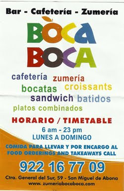 Bar-Cafeteria y Zumeria