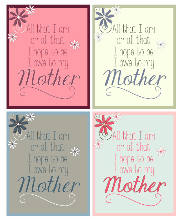 Mother's Day Printables from HollyPopDesigns.blogspot.com
