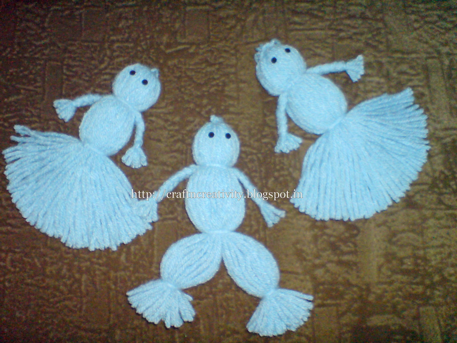 Craft n creativity yarn wool dolls for Craft with woolen thread