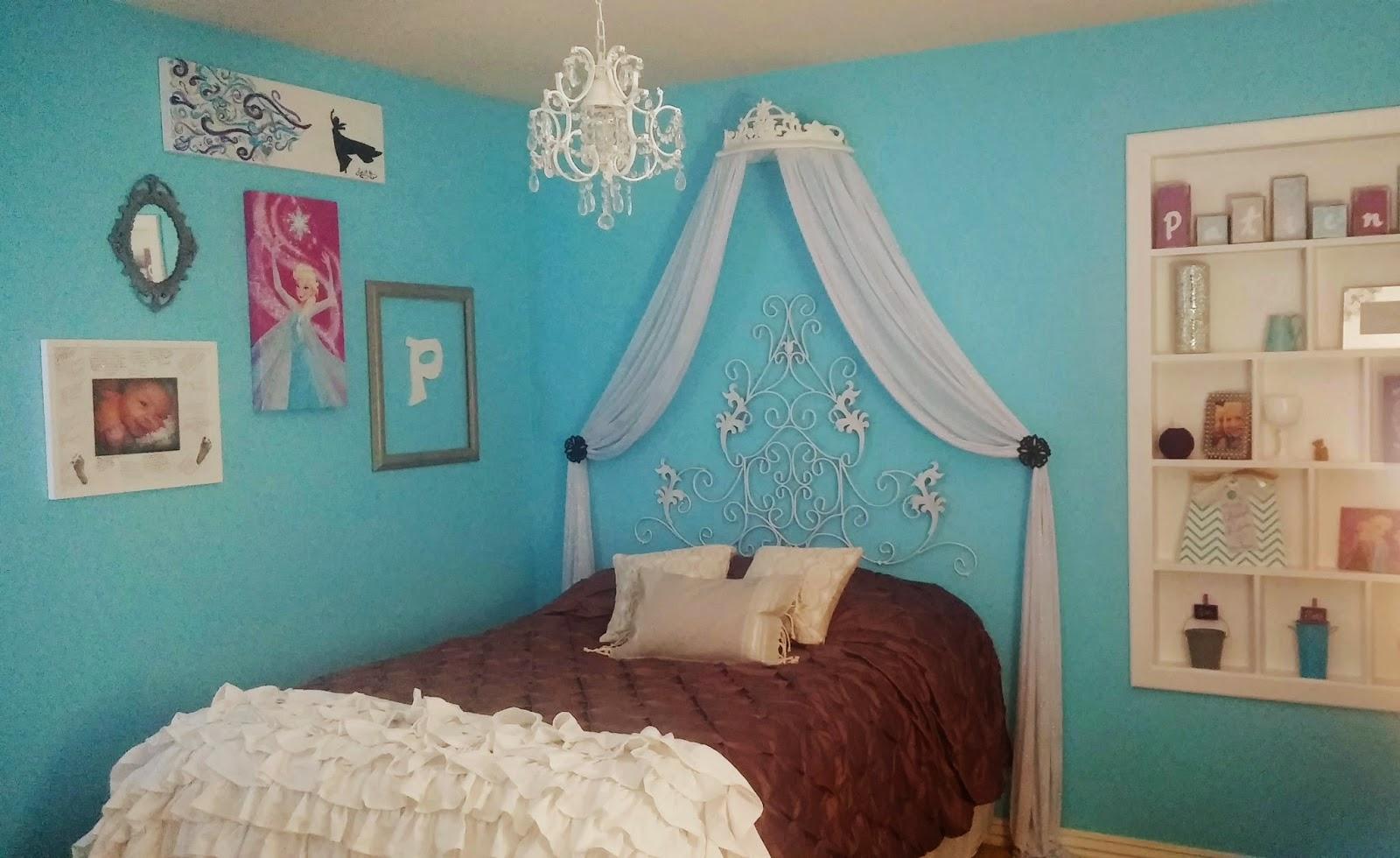 Frozen inspired bedroom - After