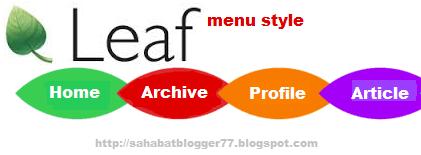 Navigation menu leaf image