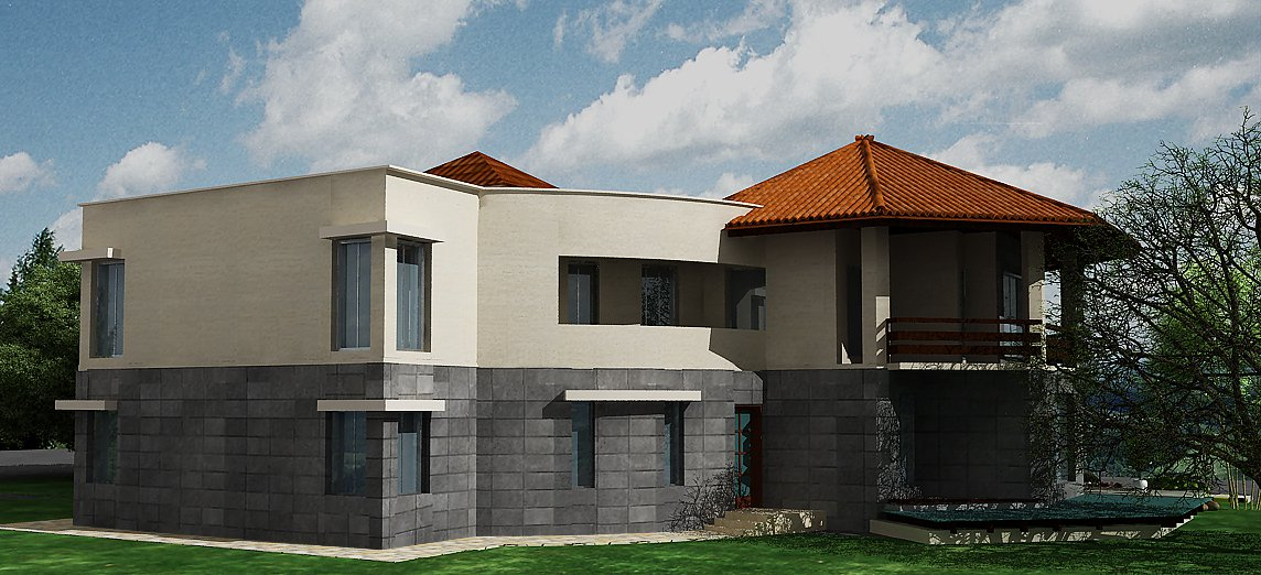 3D House Plan & Maps & Front Elevation