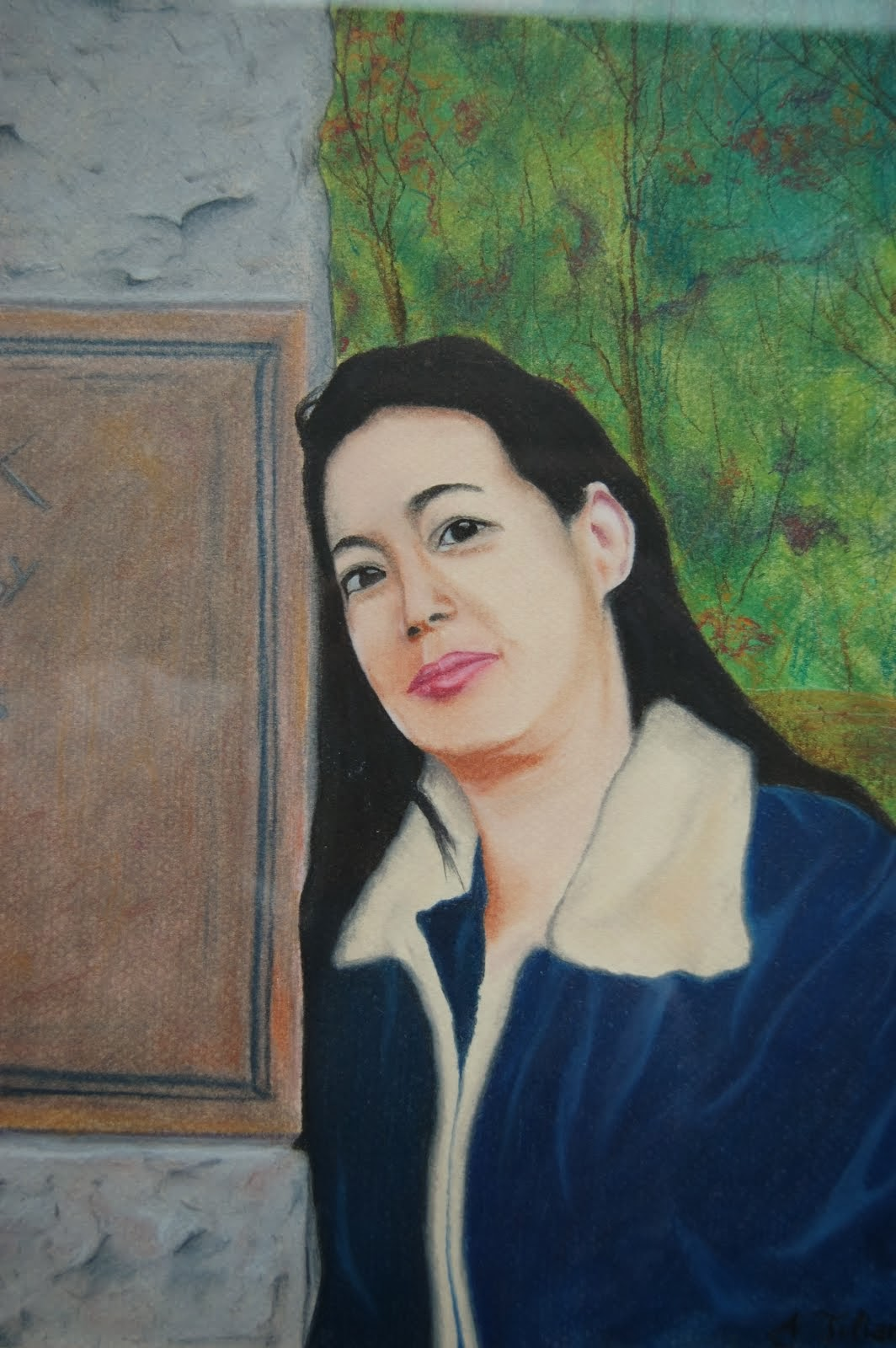 Portrait of Gina (pastels on paper)
