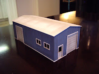 Scratch built styrene garage – roof detail