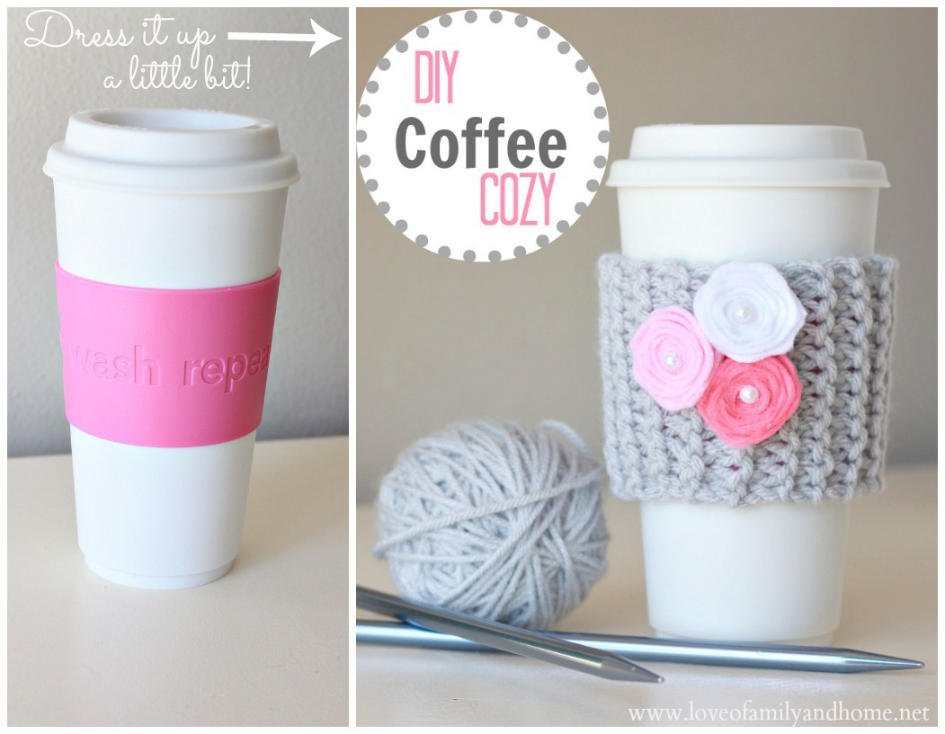 DIY Coffee Cup Cozy with Video Tutorial (Valentine\'s Day Teacher ...