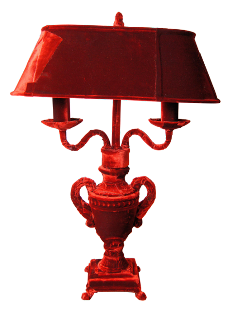 velvet covered lamp by squint