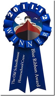 The awards are known as the TOS Homeschool Crew Blue Ribbon Award