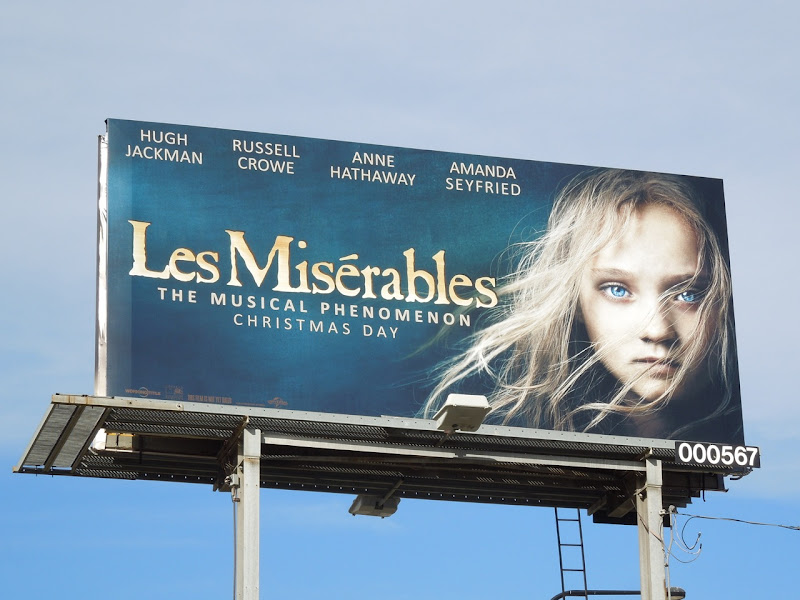 Les Miserables Young Cosette movie billboard