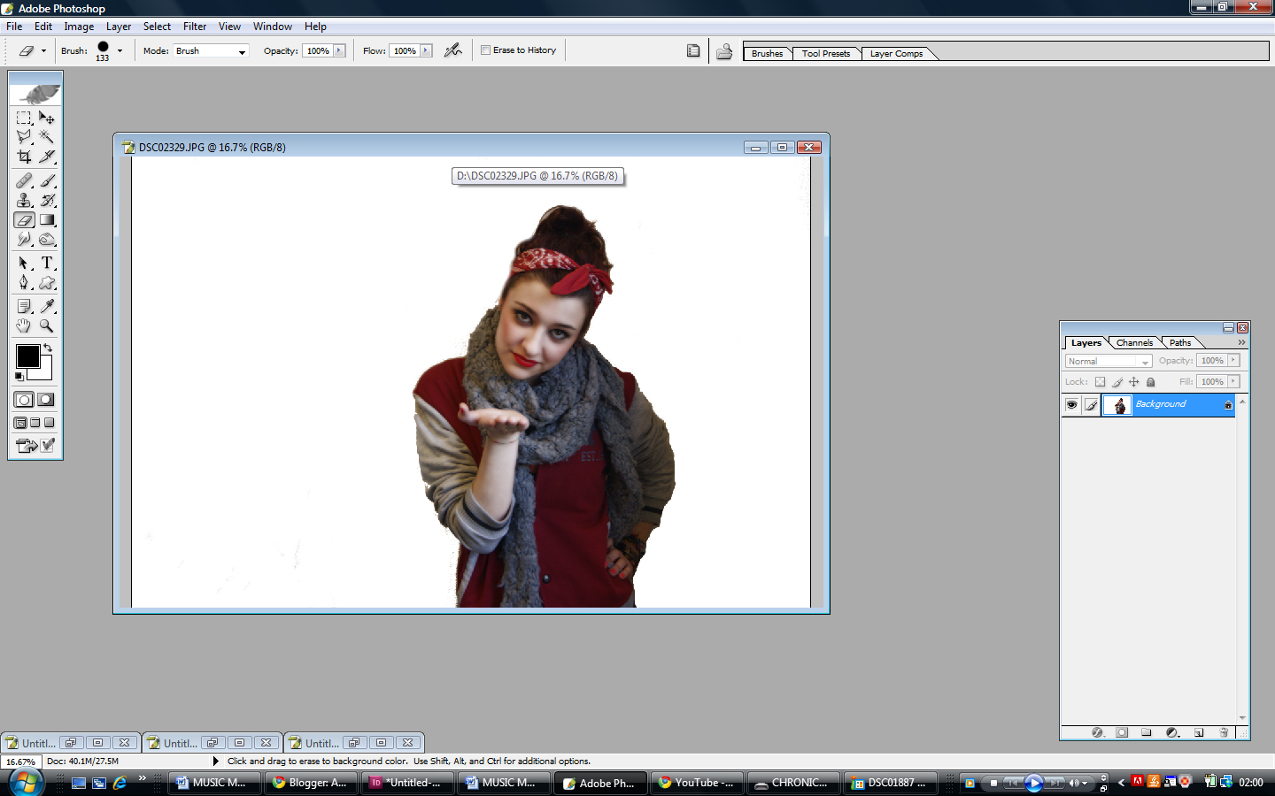 how to make an image looks clearer in indesign