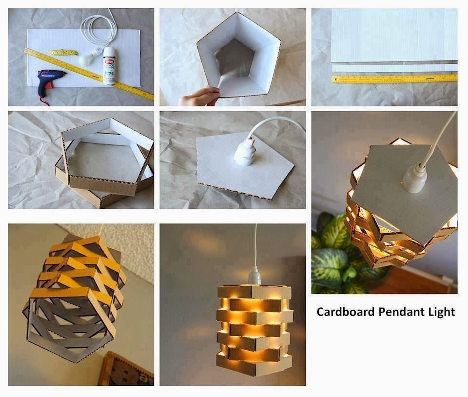 Decoclaje ideas para l mparas caseras - Hacer lamparas de techo caseras ...