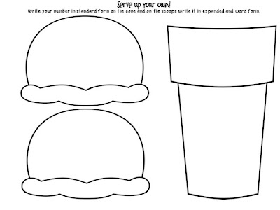 ... house worksheet first grade including Ice Cream Cone Math Worksheet