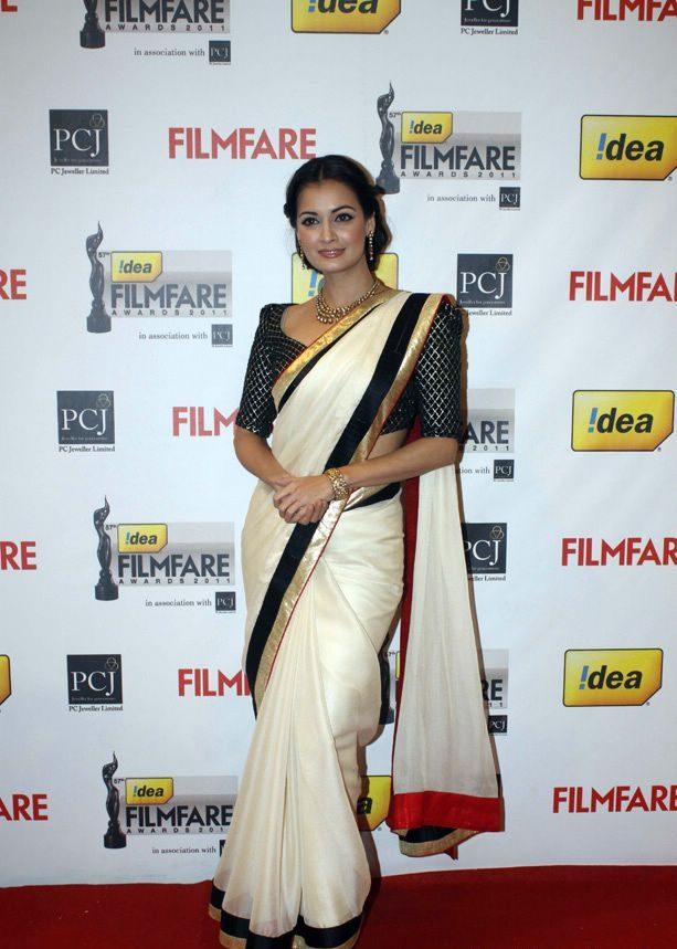 Diya Mirza 1 - Diya Mirza At 57th Idea Filmfare Awards 2011